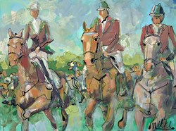 Trihunt by Marieke Bekke - Original Painting on Box Canvas sized 47x35 inches. Available from Whitewall Galleries